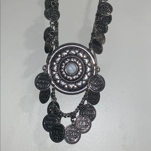 Jewelry - Large Boho Silver Statement Necklace
